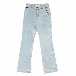 SEE BY CHLOE Side Button Flare Jeans Light Size 42